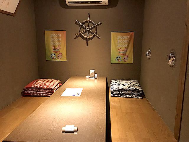 まりーな亭の個室